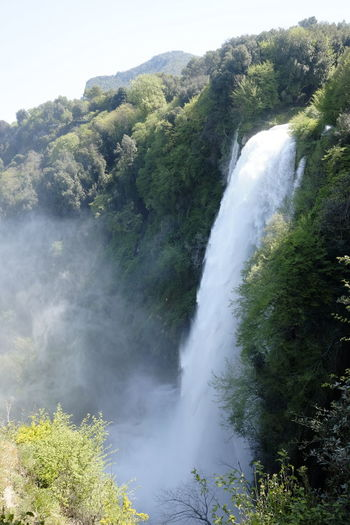 view of the marmore waterfalls Motion Outdoors Waterfall Umbria, Italy Terni Marmore Beauty In Nature Park Travel Destinations
