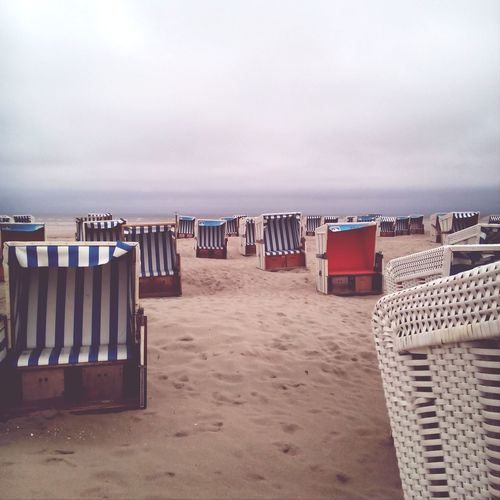 Stpeterording Strandkorb Beachchair Northsea Faded Taking Photos Nordsee Strand