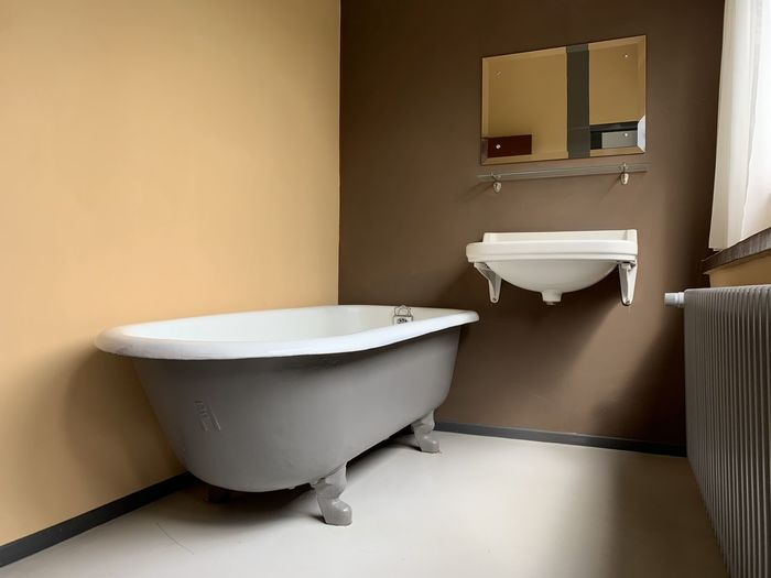 Interior of bathroom at home