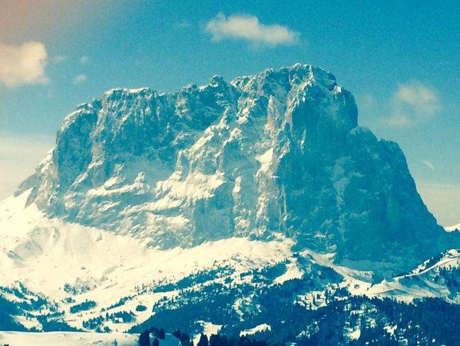 Dolomites, Italy Langkofel Skiing Wintersport Südtirol The Sun Is Shining!