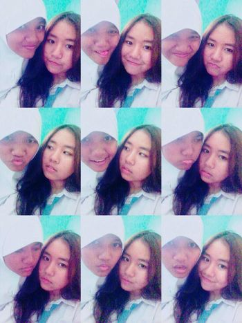 With My Friend,, My hair quite long haha