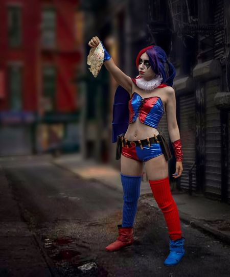 Harley Quinn Cosplayer Cosplay Nycc2018 NYCC Harleyquinn One Person Young Women Full Length Young Adult Lifestyles Real People Front View Standing Focus On Foreground Women City Beautiful Woman