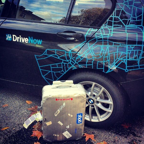 One of the better ways to commute in a foreign city with luggage. #DriveNow Drivenow