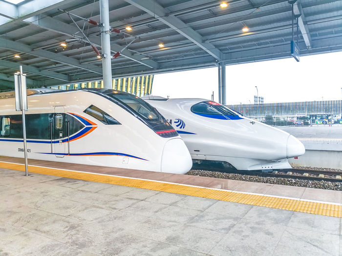 Chinese high speed train Railyway Railyway Station Chinese Train Crh Train Illuminated Car Electricity  Land Vehicle