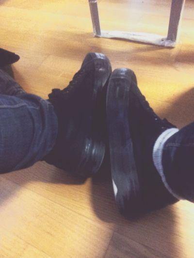 Shoes Black Troussers Wait Long Dentist