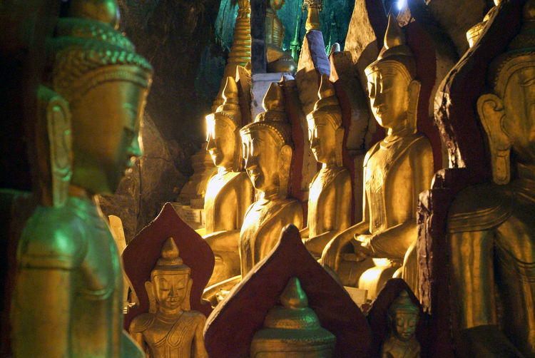 Buddha Golden Architecture Art And Craft Burma Close-up Day Human Representation Idol Indoors  Low Angle View Male Likeness Myanmar No People Place Of Worship Religion Sculpture Spirituality Statue Staue  Travel Destinations