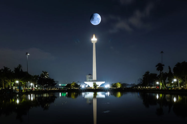 Super blue blood moon last night Blood Moon 2018 National Monument Blue Moon 2018 Illuminated Jakarta Indonesia Lunar Eclipse 2018 Monas Night Outdoors Sky Super Moon 2018 Go Higher Visual Creativity Adventures In The City The Traveler - 2018 EyeEm Awards Capture Tomorrow