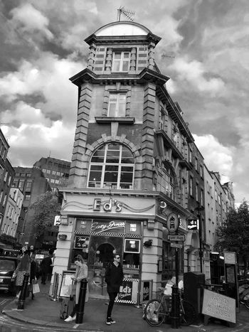 Postcode Postcards Architecture Built Structure Sky Cloud - Sky Outdoors City Life Streetphotography Blackandwhite