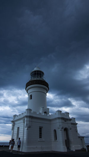 Standing at the Cape Byron Lighthouse, while the storm approaches. Had to hurry up, when it arrived to get to the car. Architecture Built Structure Cape Byron Lighthouse Cloud - Sky Dark Clouds Lighthouse Low Angle View Outdoors Shelter Sky Storm Cloud Storm Is Coming