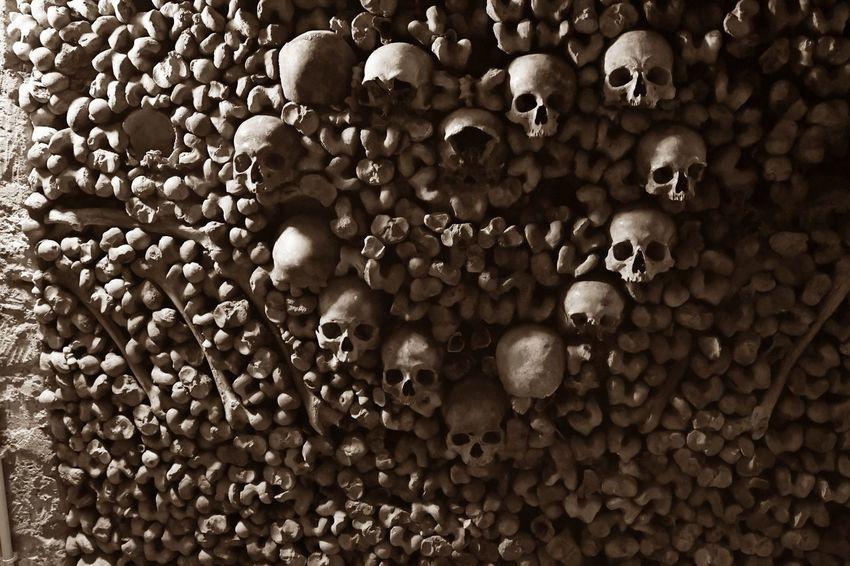 Bones France Heart Of Skulls Paris Paris, France  Sightseeing Sightseeing Spot Bone  Catacombes Catacombs Close-up Heart Hearts Historical Place Katakomben Knochen Old Scary Sepia Sepia Photography Skull Skulls Spuky Vintage The Photojournalist - 2018 EyeEm Awards