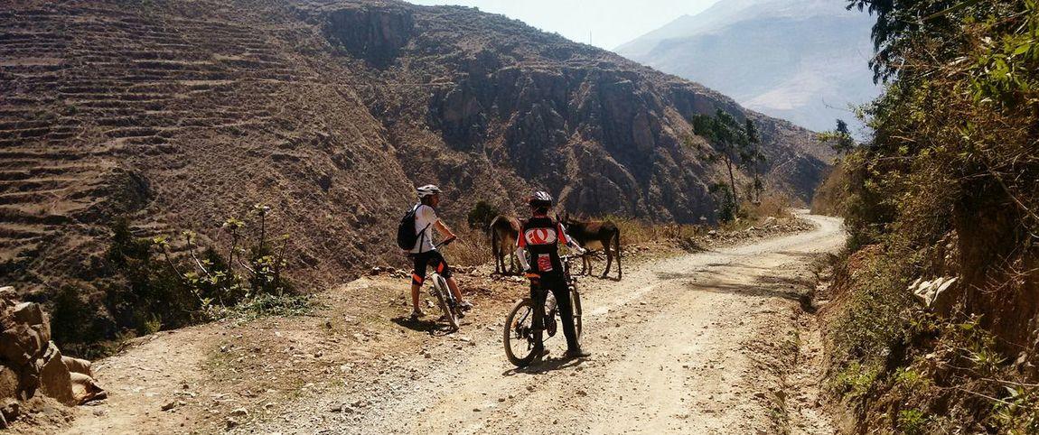 Bajando San Pedro de Casta con mi amigo el chaval Relaxing Hello World Mountain Biking Cycling Relax Celebrate Your Ride Bikes Bike Ride