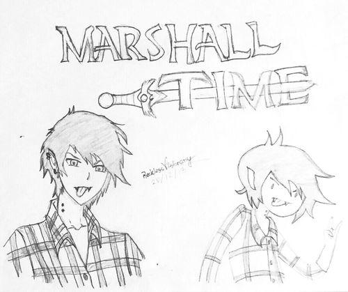 My Marshall Lee drawing ♡ Drawing Adventure Time Marshall Lee