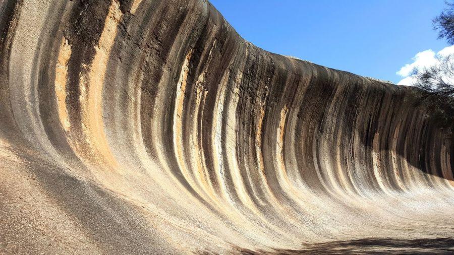 Wave Rock! Nature Pattern Landscape Beauty In Nature Perth Perth Australia Waverock Blue Sky