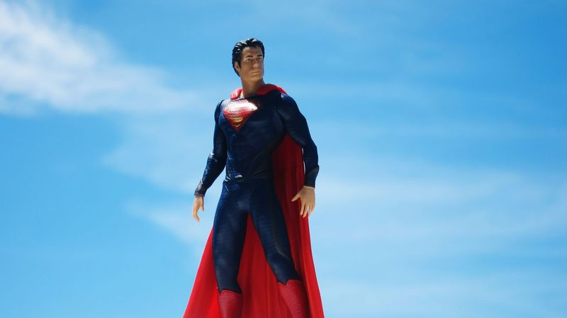 Superman Man Of Steel Mid Adult One Mid Adult Woman Only Mid Adult Men Mid Adult Women Red One Person Adults Only Sky first eyeem photo