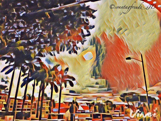Vinci App Kandinsky Filter Clouds And Sky Cloud Landscape Evening Sunset Eye4photography  EyeEm Beauty IPhoneography Perspective Palm Tree Sun Outdoors Cloud - Sky Sky Tree Reflections 7thru5shadesof21 🐇