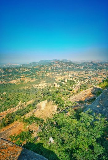 Beauty of avalabetta Bangalore Oneplus 5 India Design Nature Photography #naturelovers Scenics Landscape Green Color Nature Beauty In Nature Aerial View No People Outdoors Rural Scene Day Multi Colored Sky Blue