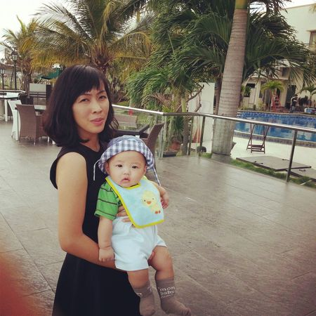 Half of my soul and my my lovely Son...People Portrait Cutebaby Holiday♡ Mother&son Mother And Son