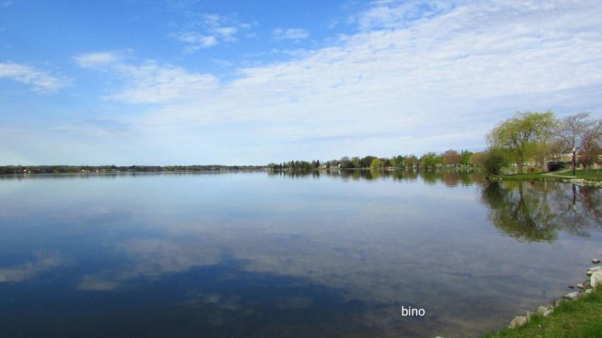 Early Morning Walk... Beautiful Day Lake Like Glass Tranquility No People Water Reflections Lake Cadillac Pure Michigan