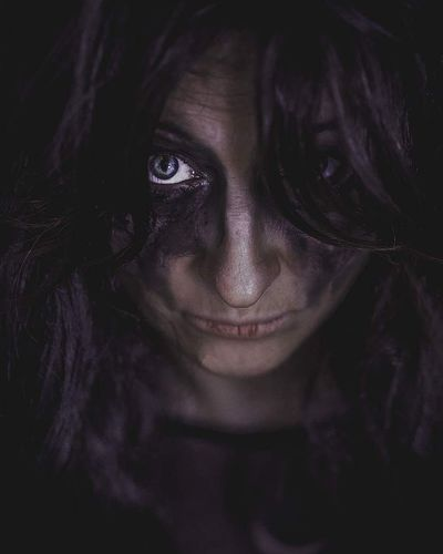 Portrait Of Woman With Halloween Make-Up