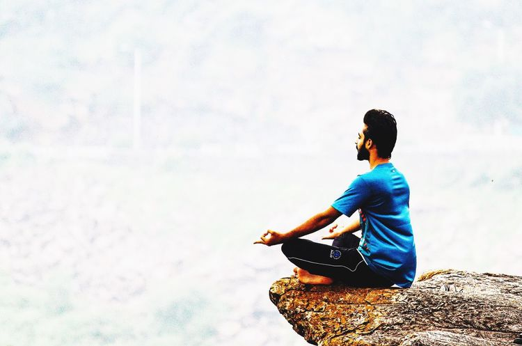 Adapted To The City Scenics Yoga Yoga Pose Yoga ॐ Sitting Real People One Person Lifestyles Young Adult Music Day Leisure Activity Outdoors Sky Technology Nature Young Women Men Musician Lotus Position EyeEmNewHere Miles Away EyeEmNewHere