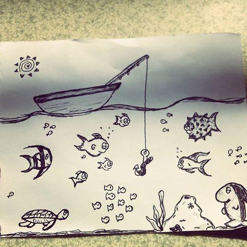Just doodles! Artstuff Aloha Keepingbusy Cartoonfish