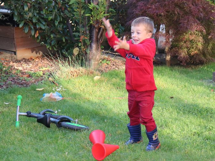Child Childhood One Person Real People Full Length Grass Plant