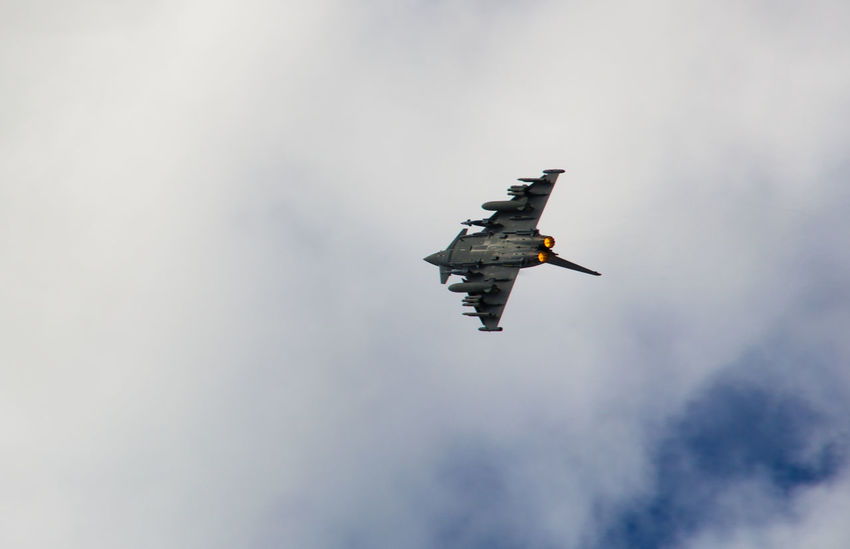Afterburner Air Force Airplane Airshow Arobatics Cloud - Sky EyeEmNewHere Fighter Plane Flying Military Military Airplane Sky Typhoon