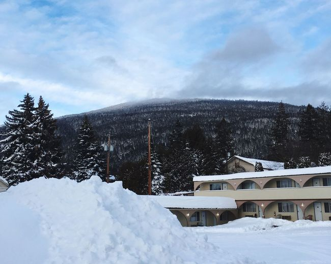 Winter Snow Sky And Clouds Sky Weather Tree Snow Covered Trees Snow Covered Mountain Nature Built Structure Architecture Building Outdoors