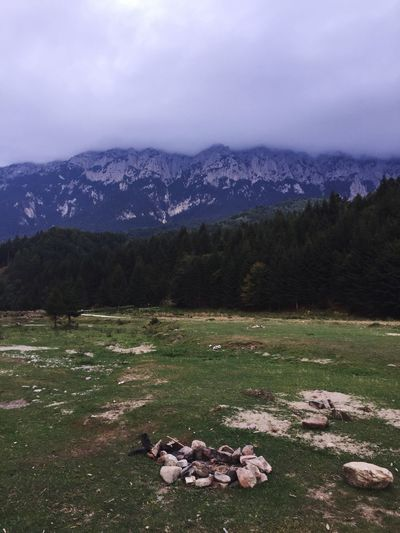 piatra craiului mountains Fireplace Campground Mountain Environment Scenics - Nature Sky No People Tranquility Nature Cloud - Sky Day Mountain Range Beauty In Nature Tranquil Scene Tree Land Landscape Outdoors Plant