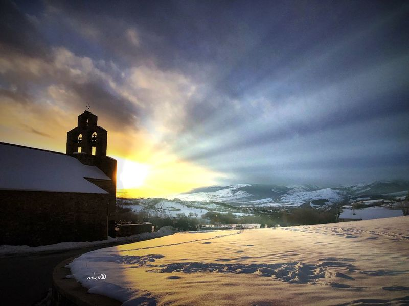 Bestoftheday Winter Cold Temperature Weather Sky Snow Nature Cloud - Sky Sunset Beauty In Nature Tranquility Landscape Mountain