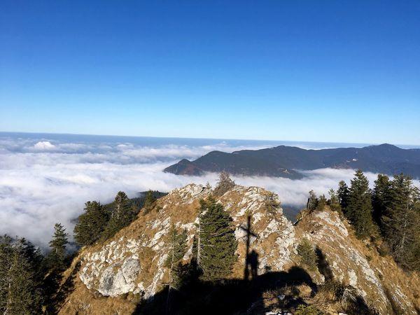 Bavarian Alps Oberbayern Sky Mountain Scenics - Nature Beauty In Nature Tree Plant Tranquil Scene Mountain Range Blue Idyllic Clear Sky Nature