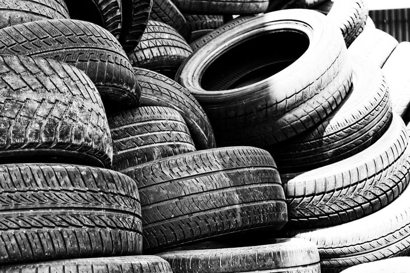 Backgrounds Black And White Close-up Day Large Group Of Objects No People Outdoors Stack Textured  The Street Photographer - 2017 EyeEm Awards Tire Tires