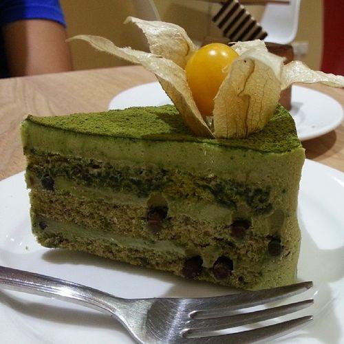 Green Tea Cake hehe @jyangsaw