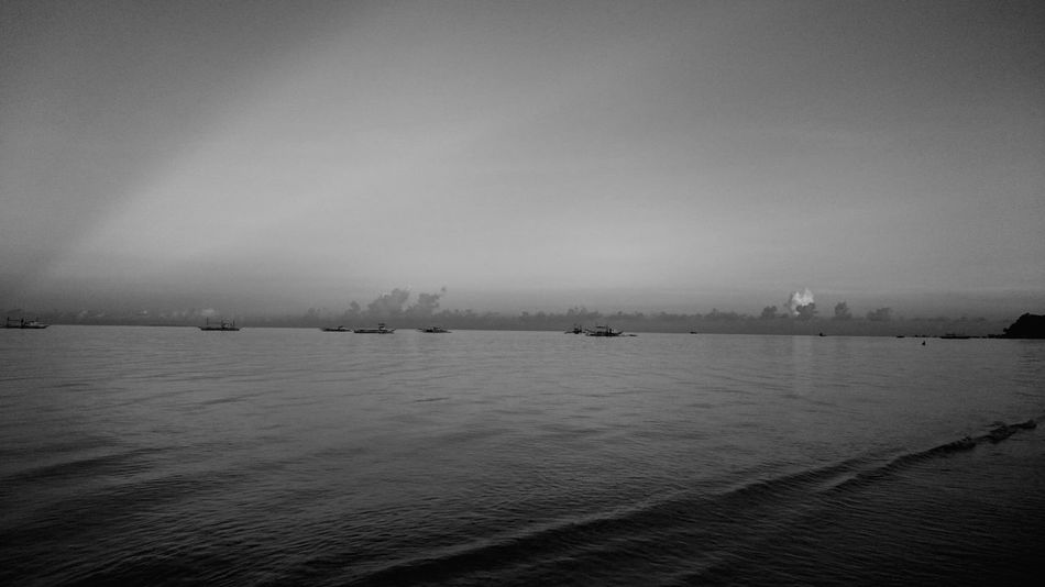Early Morning Walk... Taking Photos Hanging Out Relaxing Sony Xperia Z3 Seaside Alone In The Sea Black & White