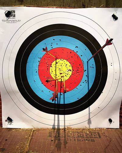 Archery Target Almost Arrows Circle Sports Target Sport Indoors  No People Concentric Archery Target Archery Range