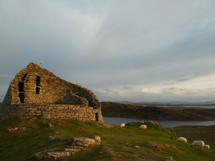 Dun Carloway Broch on Isle of Lewis at Sunset Nature Photography Sunset #sun #clouds #skylovers #sky #nature #beautifulinnature #naturalbeauty #photography #landscape Isle Of Lewis Outer Hebrides Scotland Dun Carloway Broch Architecture Sky Built Structure Water History Cloud - Sky Building Exterior The Past Old Old Ruin Nature No People Building Scenics - Nature Land Tranquility Beauty In Nature Travel Outdoors