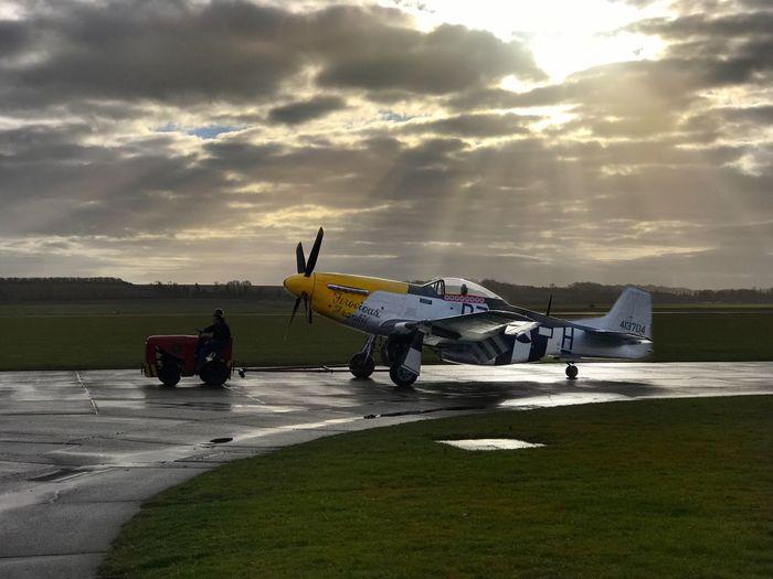 P-51 Mustang Cloud - Sky Airplane EyeEmNewHere Dramatic Sky Warbird Museum Aviation Mustang P-51D Mustang P-51