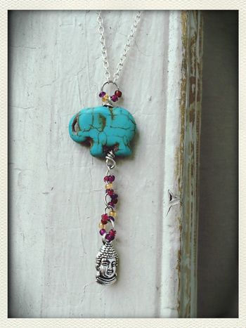 Handmade elephant and Buddha charm necklace available at my shop now! https://www.etsy.com/listing/183691485/elephant-buddha-charm-necklace-buddha Jewelry Check This Out Bohemian Animal