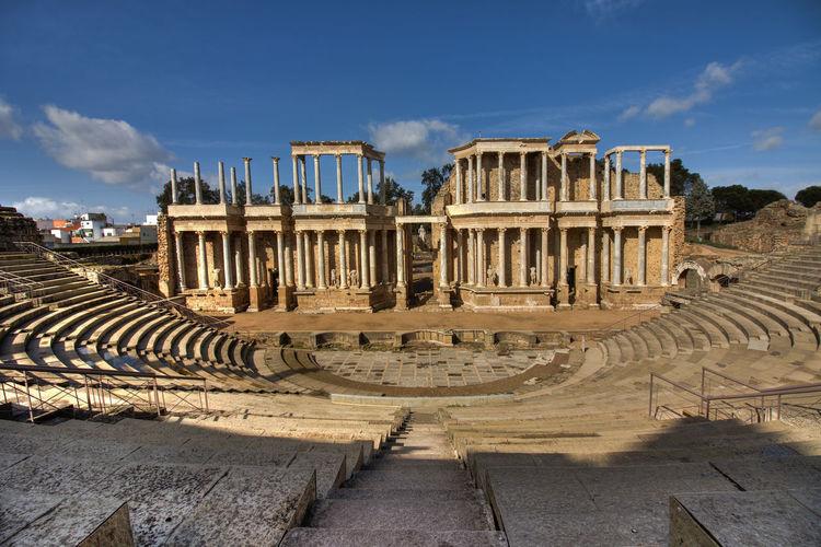 Roman Theater Beautiful Monument Mérida Roman Roman Theater Sky Spain♥ Sun