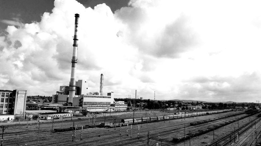 Częstochowa Trains Traffic Chimney I Love My City Factor Blackandwhite Photography Black And White Photography
