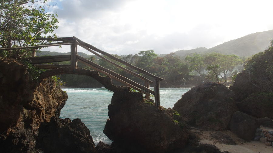 Just a little Bridge in Jamaica Arch Bridge Architecture Bay Boston Bay Bridge Bridge - Man Made Structure Built Structure Caribbean Cloud - Sky Connection Footbridge Jamaica Nature No People Outdoors Plant Port Antonio Sky Water