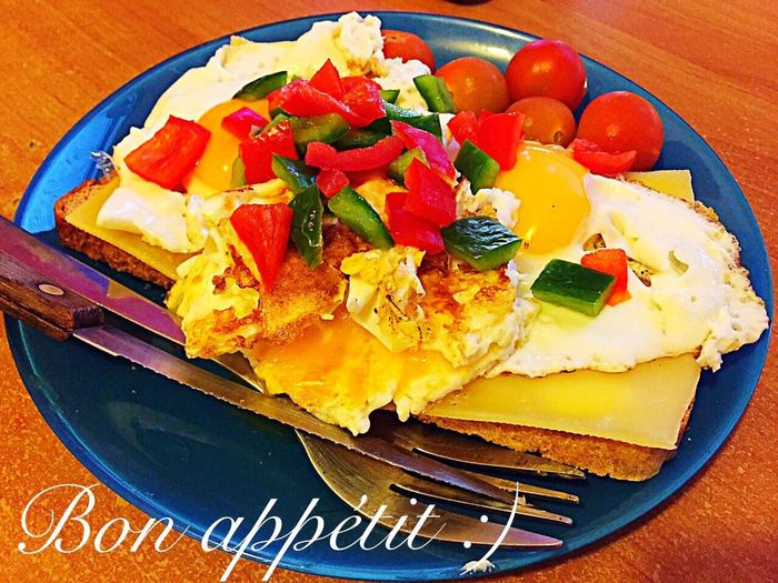 Завтрак Breakfast Petit Dejeuner Fried Egg Toast Food Idea Simple Easy