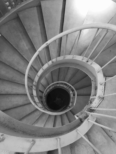 Staircase Spiral Railing Steps And Staircases Architecture Built Structure Steps Design Spiral Stairs High Angle View No People Day