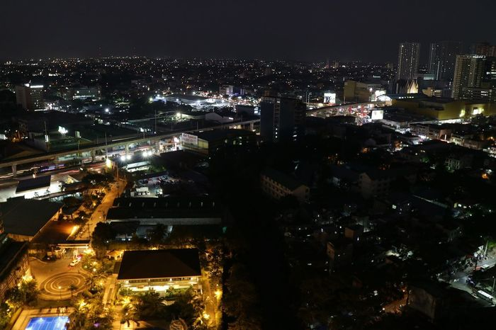 Manila. Glowinthedark Eluminated Bright Philippines Manila Breathing Space EyeEmNewHere View Top Perspective Top View Top Bright Metro Light And Shadow City Architecture Building Exterior Night Illuminated Cityscape Building Sky City Life Glowing Nightlife Modern Nature Residential District Skyscraper Office Building Exterior
