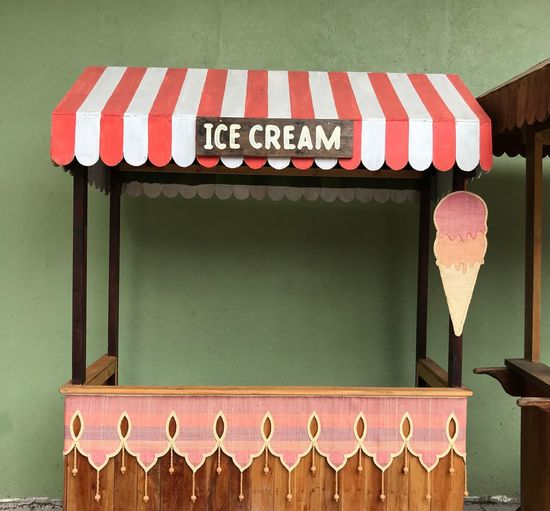 Ice Cream Stand Wood - Material Decoration