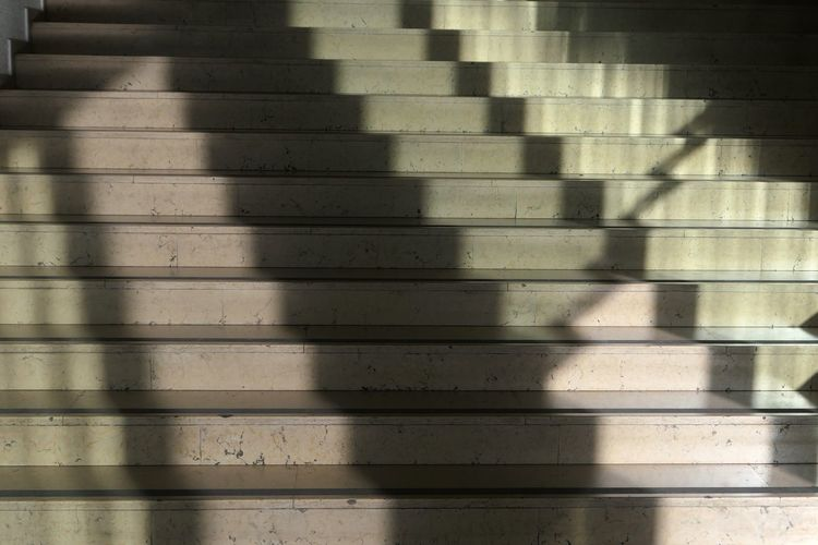 Steps And Staircases Shadow Pattern Sunlight Full Frame Backgrounds No People Day Textured  Close-up Indoors  Repetition Architecture Focus On Shadow Nature Abstract Design Built Structure