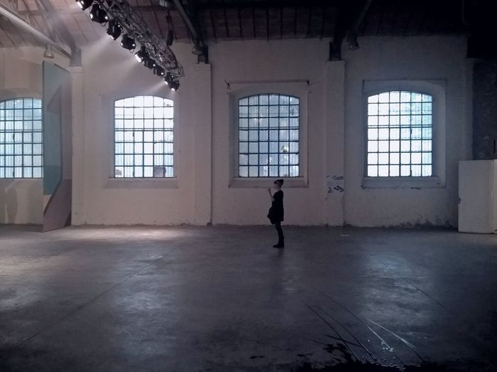 Abandoned Factory Abandoned Places Architecture Empty Empty Places Exploring Factory Floor Flooring Full Length Girl Indoors  Leisure Activity Lights Minimal People And Places Person Person Silhouette Places Silhouette Simplicity Space Urban Window Young Women
