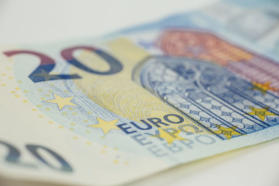 EUR Bill Close-up Currency Europe Finance Geld Indoors  Money No People Paper Currency Savings Scheine Still Life Studio Shot Wealth Währung