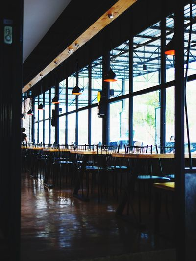 loft design idea Window Frame Shadow Perspective Lines Light And Shadow Interior Decorating Wood Loft Restaurant Window Indoors  Table Chair Day No People Architecture