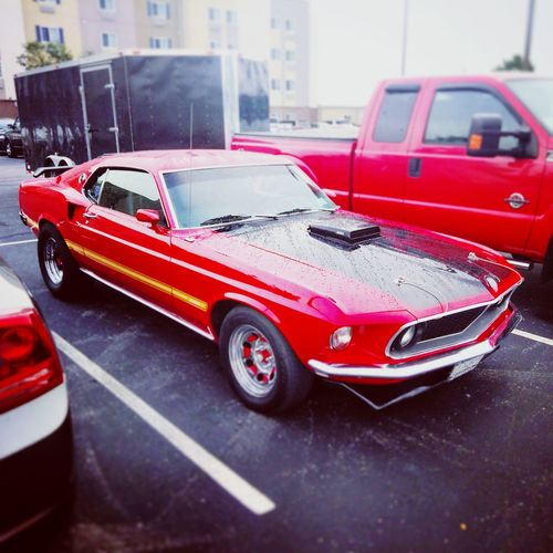Ford Mustang Pony Cars Muscle Cars HotRod Car Red Motorsport Ol'school Collector's Car Classic Car Indianapolis